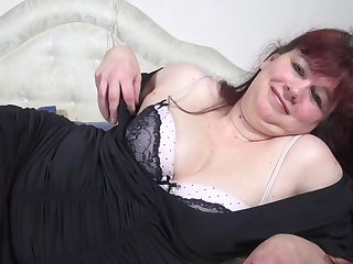 Long haired redhead mature amateur BBW MILF Bianca M.