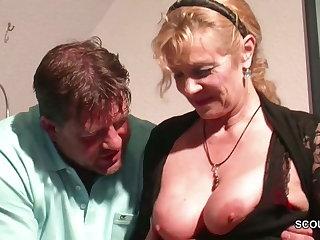 Senior libertine wants big boobs of old horny slut