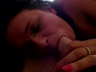 British Gilf Loves Sucking and Gagging on a Big Cock