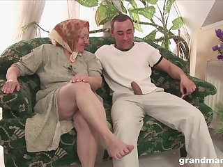 Mature blonde BBW fingers herself before riding a hard dick