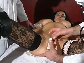 Raven Haired French Babe Goes In For A Check Up