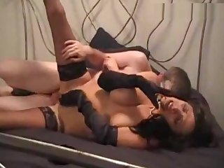 Bad mature MILF gets angry on her slave