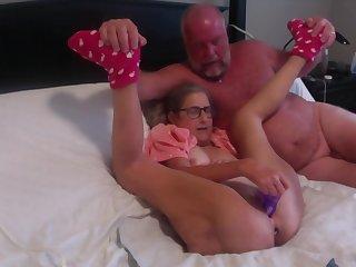Hot MILF Masturbates With Big Rabbit Has Huge Painful Butt Plug Inserted