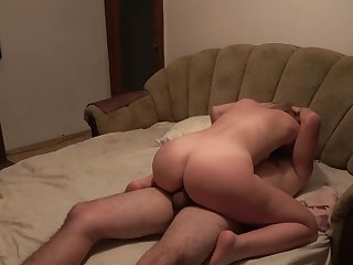 Mommy has multiple orgasms when she eat cum ! Family Taboo