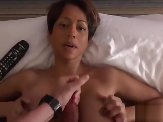 Busty Asian Mom Behind the Scenes