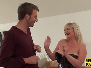 Mom British Sub Gets BDSM Lovemaking Humiliation