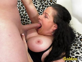 Older Alexandra Silk Rides a Long Dick