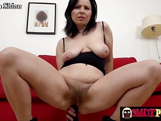Horny old women stretch their tight assholes using massive sex toys