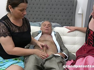 Young Cutie Housemaid Learns How To Pound Old