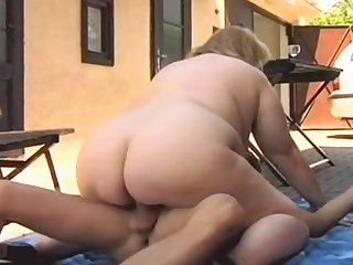 BLONDE FAT HAIRY BBW MATURE GRANNY - Dana - 2006 - Vintage