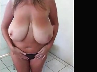 Super stacked British girl teases
