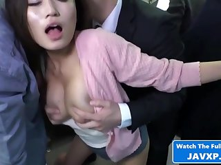 Asian Mommy On The Public Train - Hot Sex