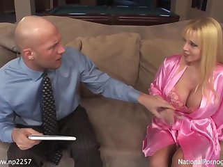 Stunning Blond Hair Mommy Fucks With Beefy Guy