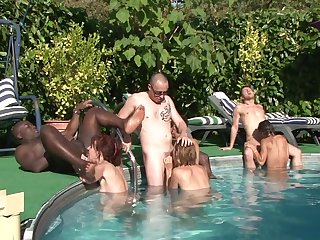 Granny sex orgy outdoor - interracial porn
