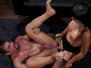 Dominating Shemale Anal Fucks Lucky Guy 001