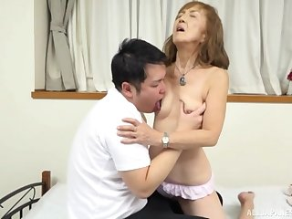 Mature Japanese tries nephew for a few rounds of sex
