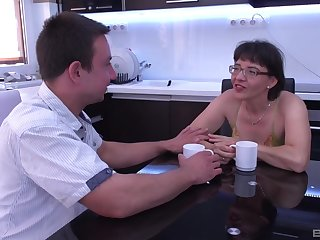 Old like that and still fucks like a pro. Amazing granny sex