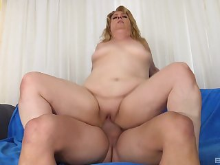 Mature rides cock and swallows sperm like a whore