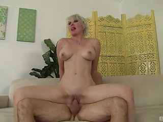 Big boobs mature Dalny Marga receives a creamy facial cumshot